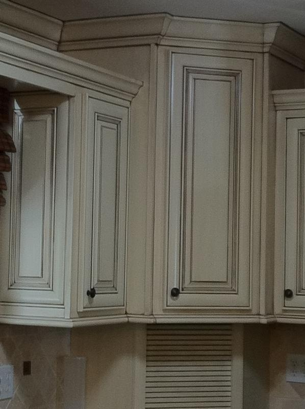 Cabinet glazing for Can you paint over stained kitchen cabinets